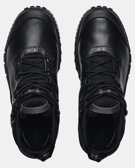 Chaussures militaires imperméables en cuir à coupe mi-montante UAMicroG® Valsetz pour homme, Black, pdpMainDesktop image number 2