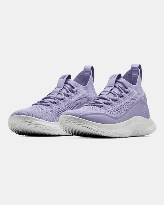 Curry Flow 8 'International Women's Day' Basketball Shoes, Purple, pdpMainDesktop image number 3