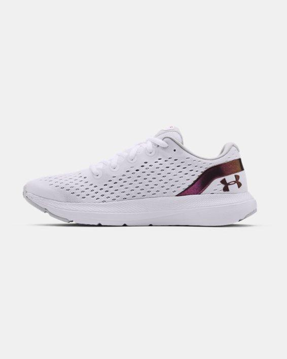 Women's UA Charged Impulse Shft Running Shoes, White, pdpMainDesktop image number 1