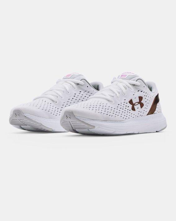 Women's UA Charged Impulse Shft Running Shoes, White, pdpMainDesktop image number 3