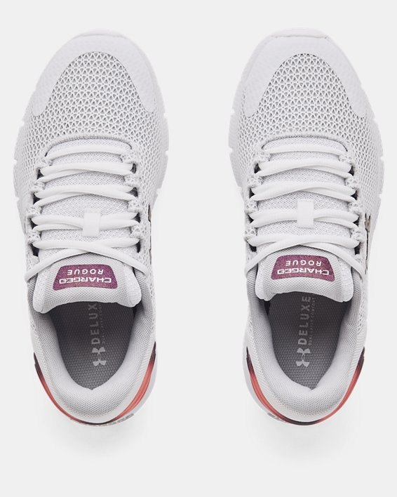 Women's UA Charged Rogue 2.5 Colorshift Running Shoes, White, pdpMainDesktop image number 2