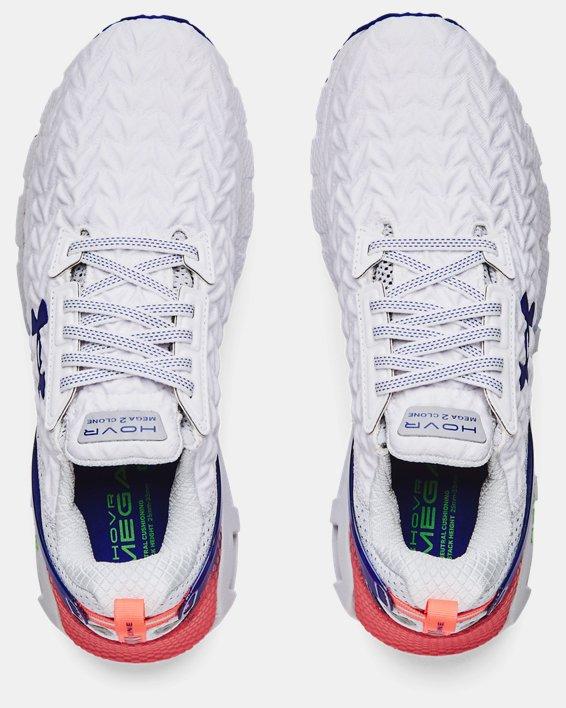 Men's UA HOVR™ Mega 2 Clone Running Shoes, White, pdpMainDesktop image number 2