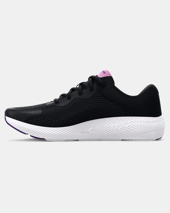 Girls' Grade School UA Charged Pursuit 2 Big Logo Running Shoes, Black, pdpMainDesktop image number 1