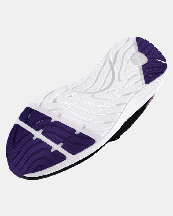 Girls' Grade School UA Charged Pursuit 2 Big Logo Running Shoes, Black, pdpMainDesktop image number 4