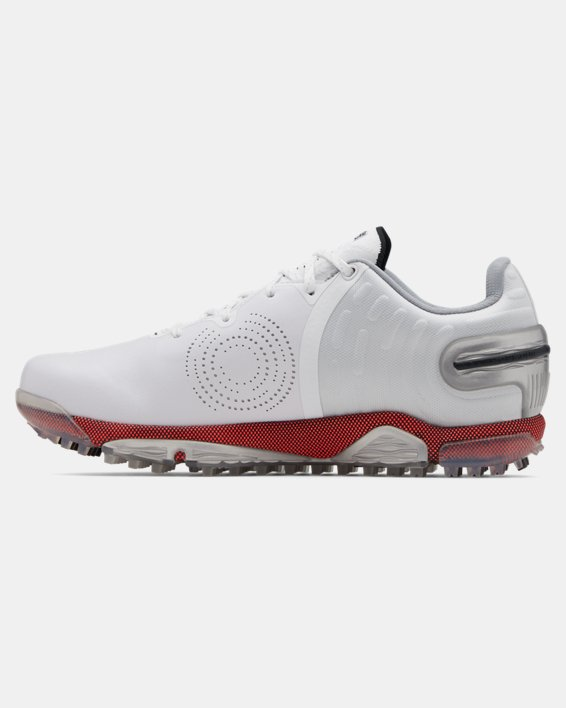 Men's UA Spieth 5 Spikeless Wide E Golf Shoes, White, pdpMainDesktop image number 1