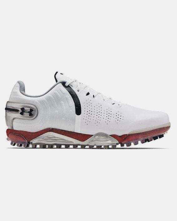 Men's UA Spieth 5 Spikeless Wide E Golf Shoes, White, pdpMainDesktop image number 0
