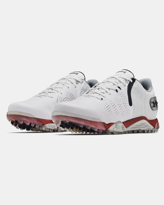 Men's UA Spieth 5 Spikeless Wide E Golf Shoes, White, pdpMainDesktop image number 3
