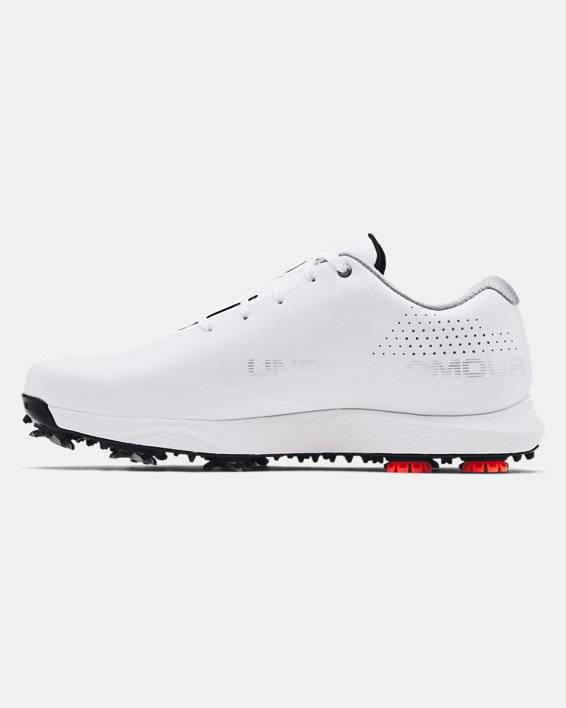 Men's UA Charged Draw RST Wide E Golf Shoes, White, pdpMainDesktop image number 1