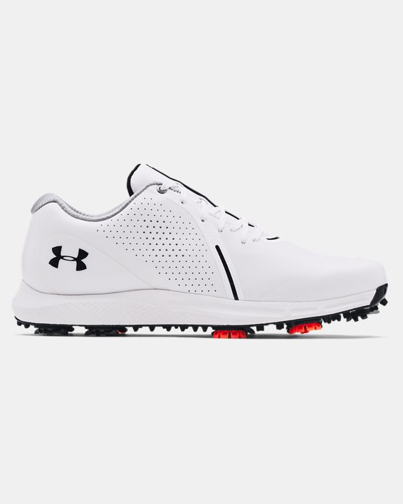 Men's UA Charged Draw RST Wide E Golf Shoes, White, pdpMainDesktop image number 0