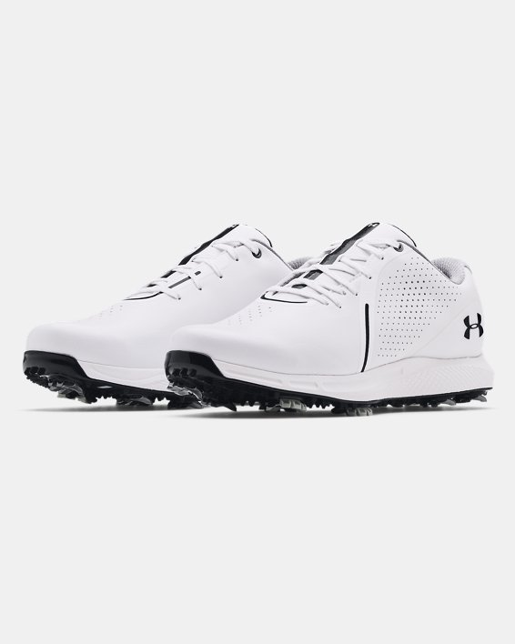 Men's UA Charged Draw RST Wide E Golf Shoes, White, pdpMainDesktop image number 3