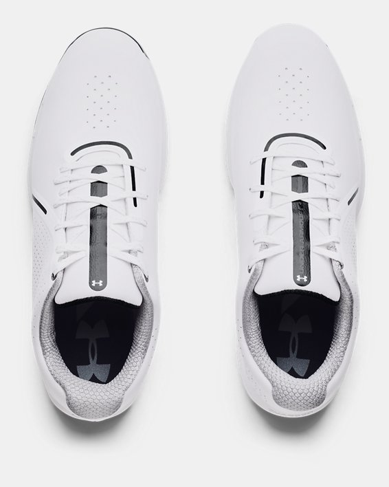 Men's UA Charged Draw RST Wide E Golf Shoes, White, pdpMainDesktop image number 2