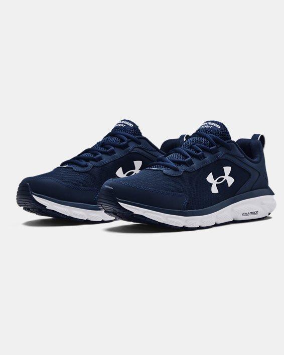 Men's UA Charged Assert 9 Running Shoes, Blue, pdpMainDesktop image number 3