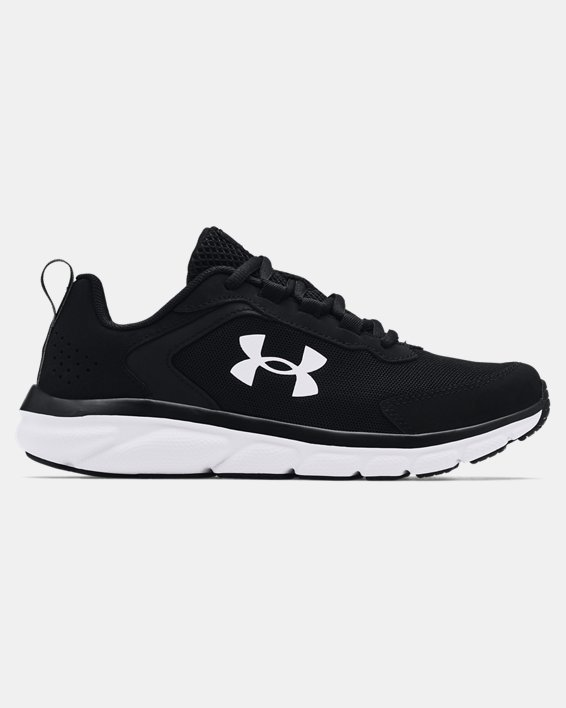 Boys' Grade School UA Assert 9 Running Shoes, Black, pdpMainDesktop image number 0