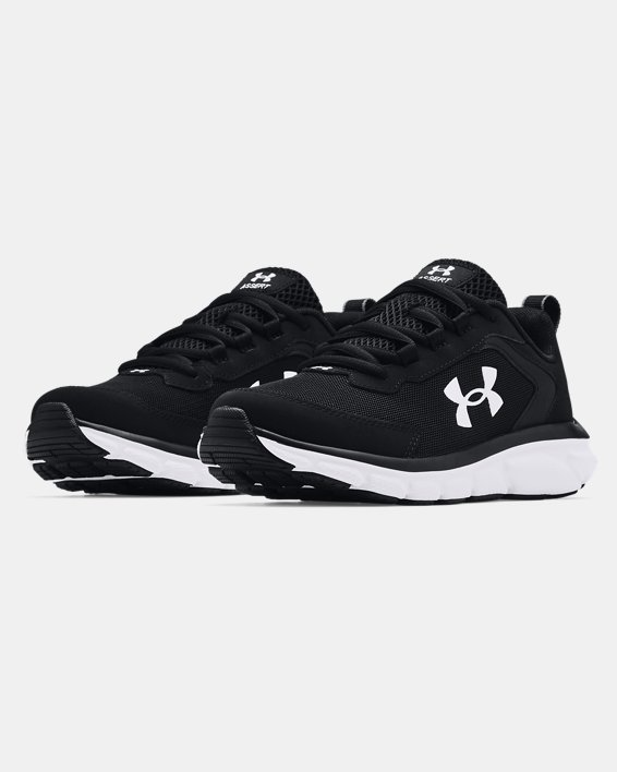 Boys' Grade School UA Assert 9 Running Shoes, Black, pdpMainDesktop image number 2