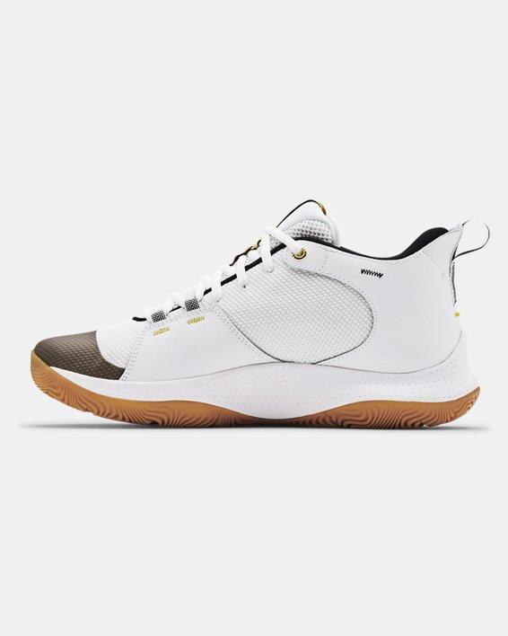 Unisex UA 3Z5 Basketball Shoes, White, pdpMainDesktop image number 1