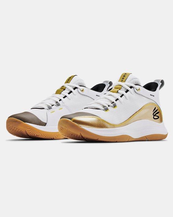 Unisex UA 3Z5 Basketball Shoes, White, pdpMainDesktop image number 3