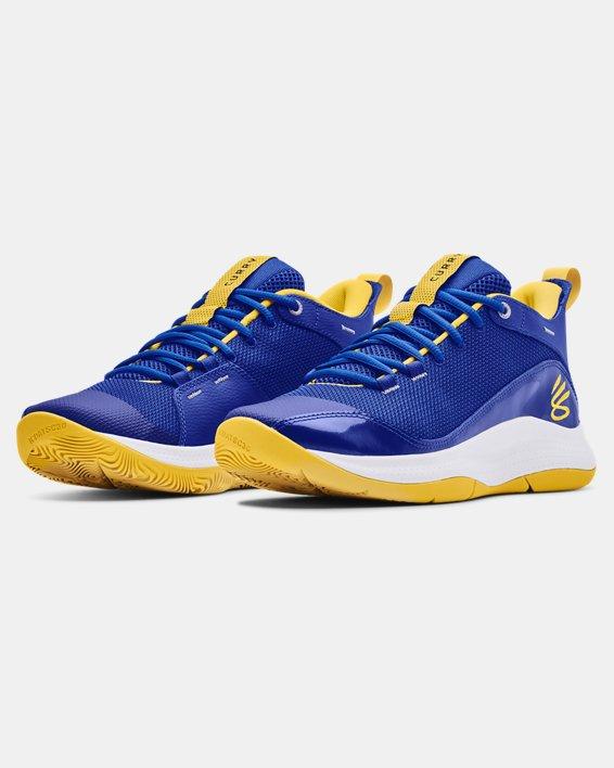 Unisex UA 3Z5 Basketball Shoes, Blue, pdpMainDesktop image number 3