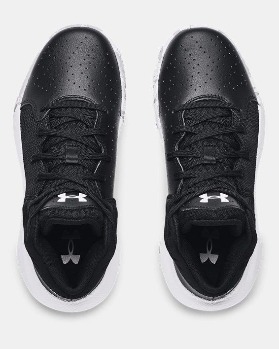 Grade School UA Jet '21 Basketball Shoes, Black, pdpMainDesktop image number 2