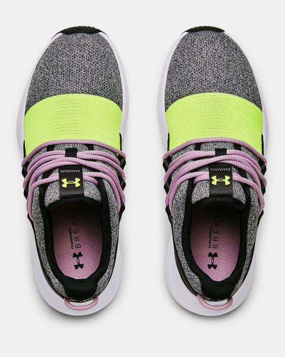 Women's UA Charged Breathe Lace Sportstyle Shoes, Black, pdpMainDesktop image number 2
