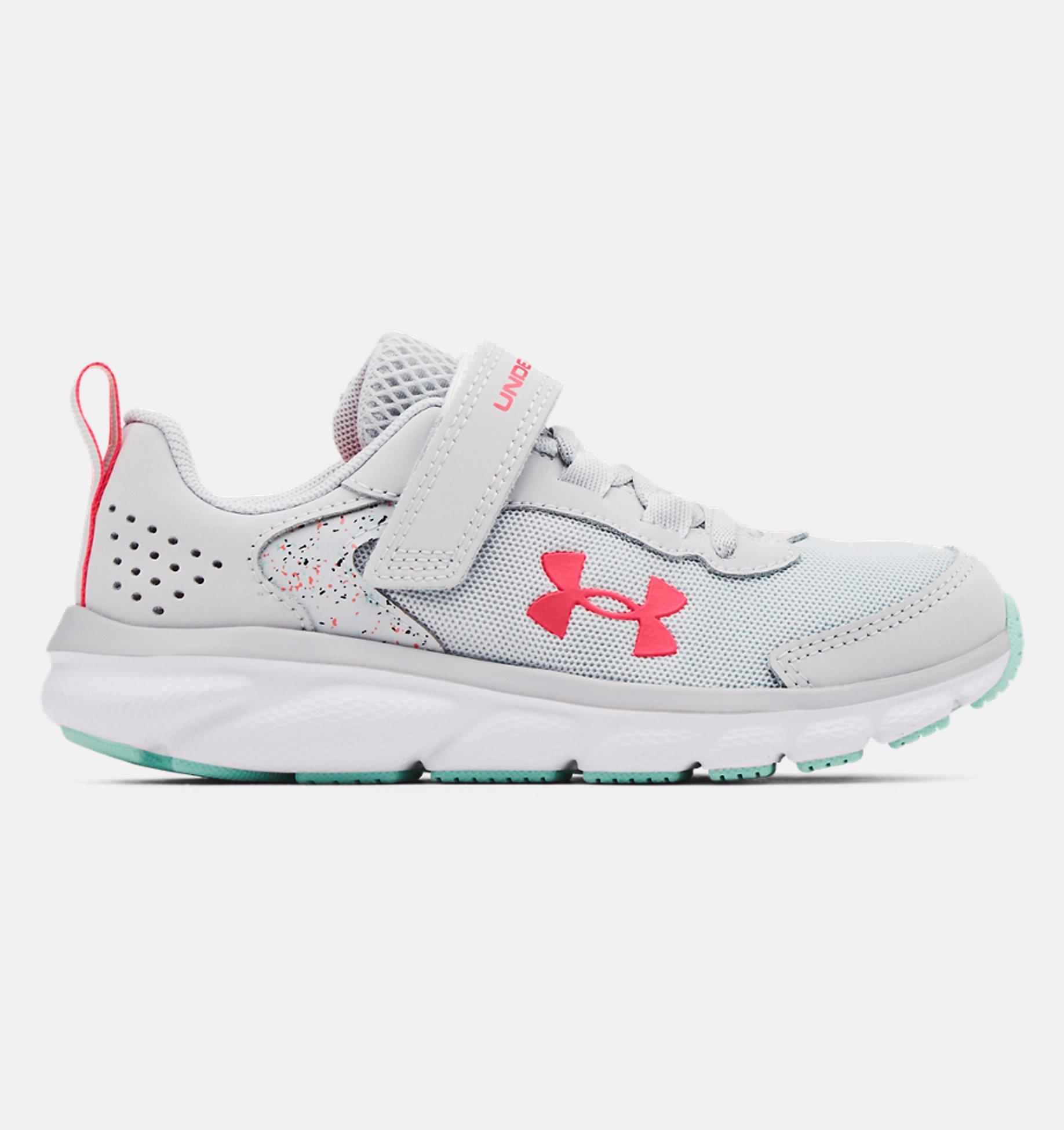 Underarmour Girls Pre-School UA Assert 9 AC Paint Splatter Running Shoes