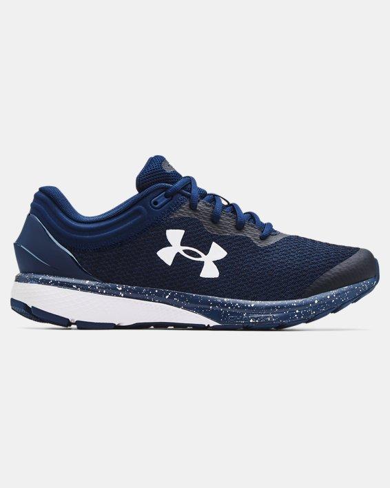 Men's UA Charged Escape 3 Big Logo Running Shoes, Navy, pdpMainDesktop image number 0