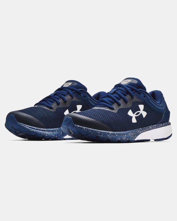 Men's UA Charged Escape 3 Big Logo Running Shoes, Navy, pdpMainDesktop image number 3