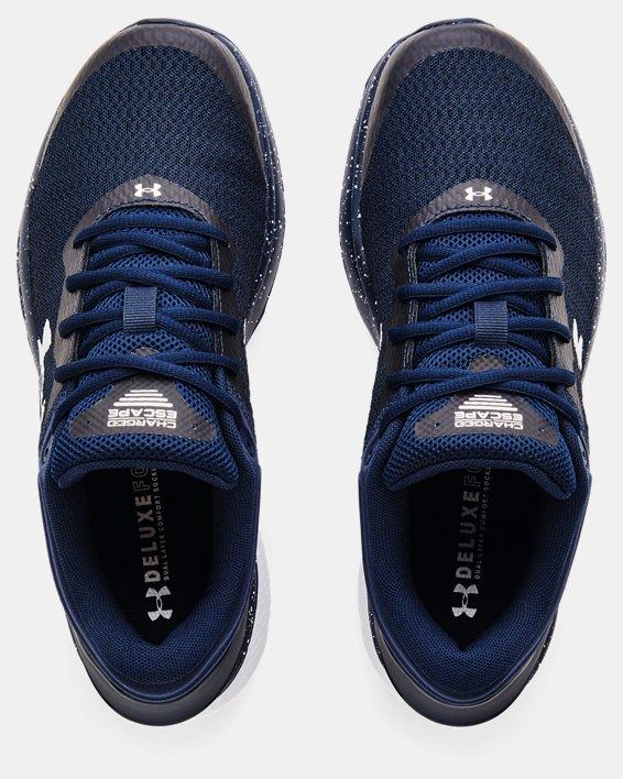 Men's UA Charged Escape 3 Big Logo Running Shoes, Navy, pdpMainDesktop image number 2