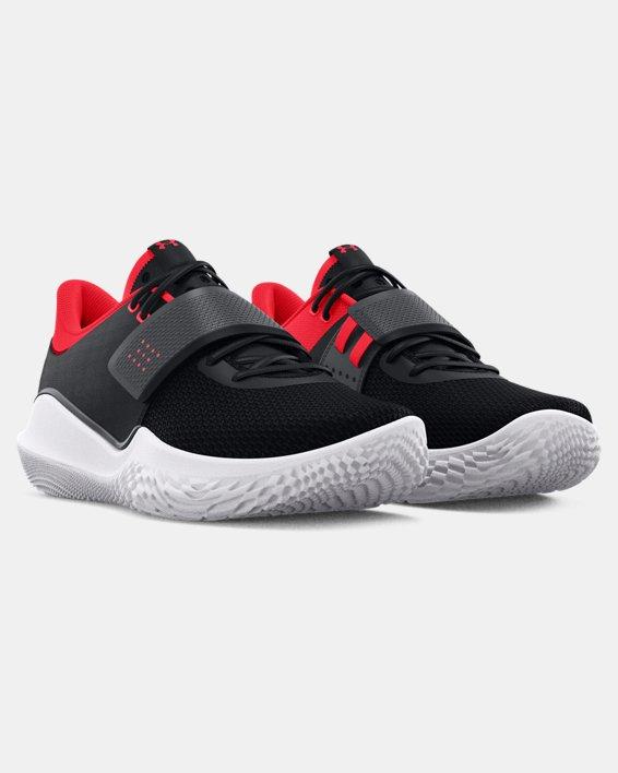 Unisex UA Flow FUTR X Basketball Shoes, Black, pdpMainDesktop image number 3