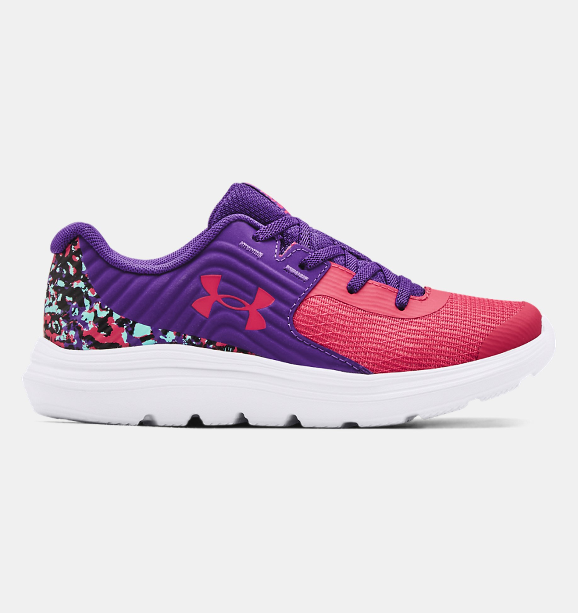 Underarmour Girls Pre-School UA Outhustle Print Running Shoes