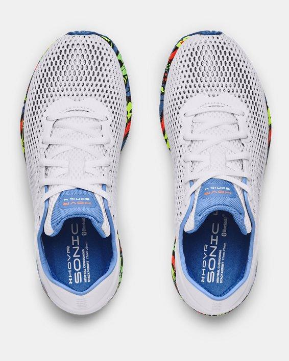 Women's UA HOVR™ Sonic 4 Run Weird Running Shoes, White, pdpMainDesktop image number 2