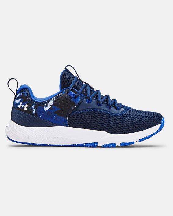 Men's UA Charged Focus Print Training Shoes, Blue, pdpMainDesktop image number 0