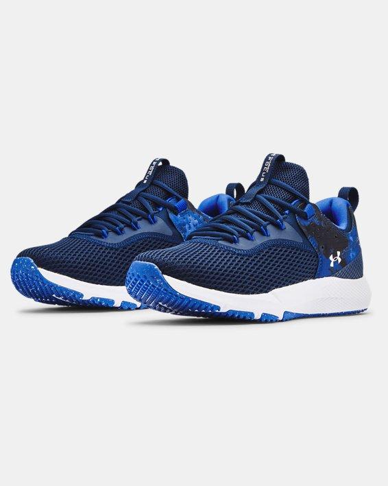 Men's UA Charged Focus Print Training Shoes, Blue, pdpMainDesktop image number 3