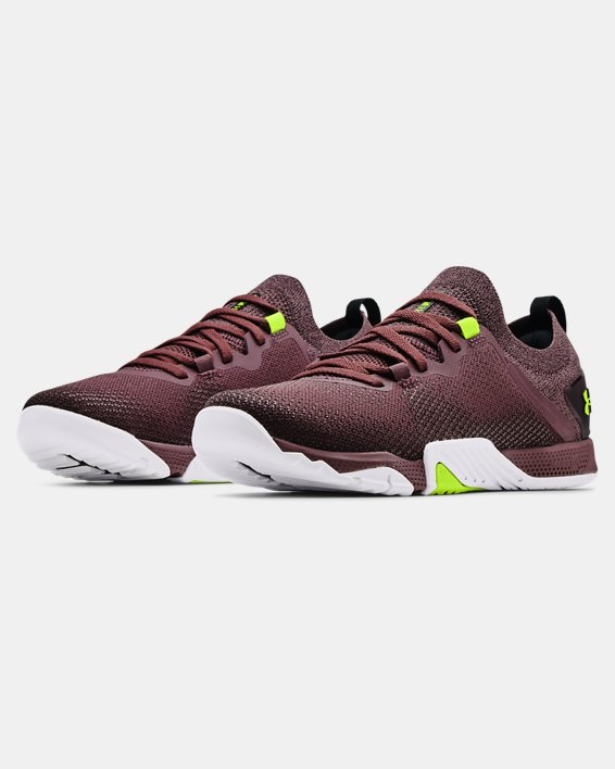 Women's UA TriBase™ Reign 3 Training Shoes, Purple, pdpMainDesktop image number 3