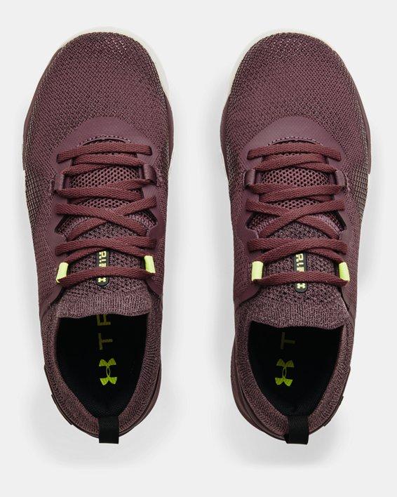 Women's UA TriBase™ Reign 3 Training Shoes, Purple, pdpMainDesktop image number 2