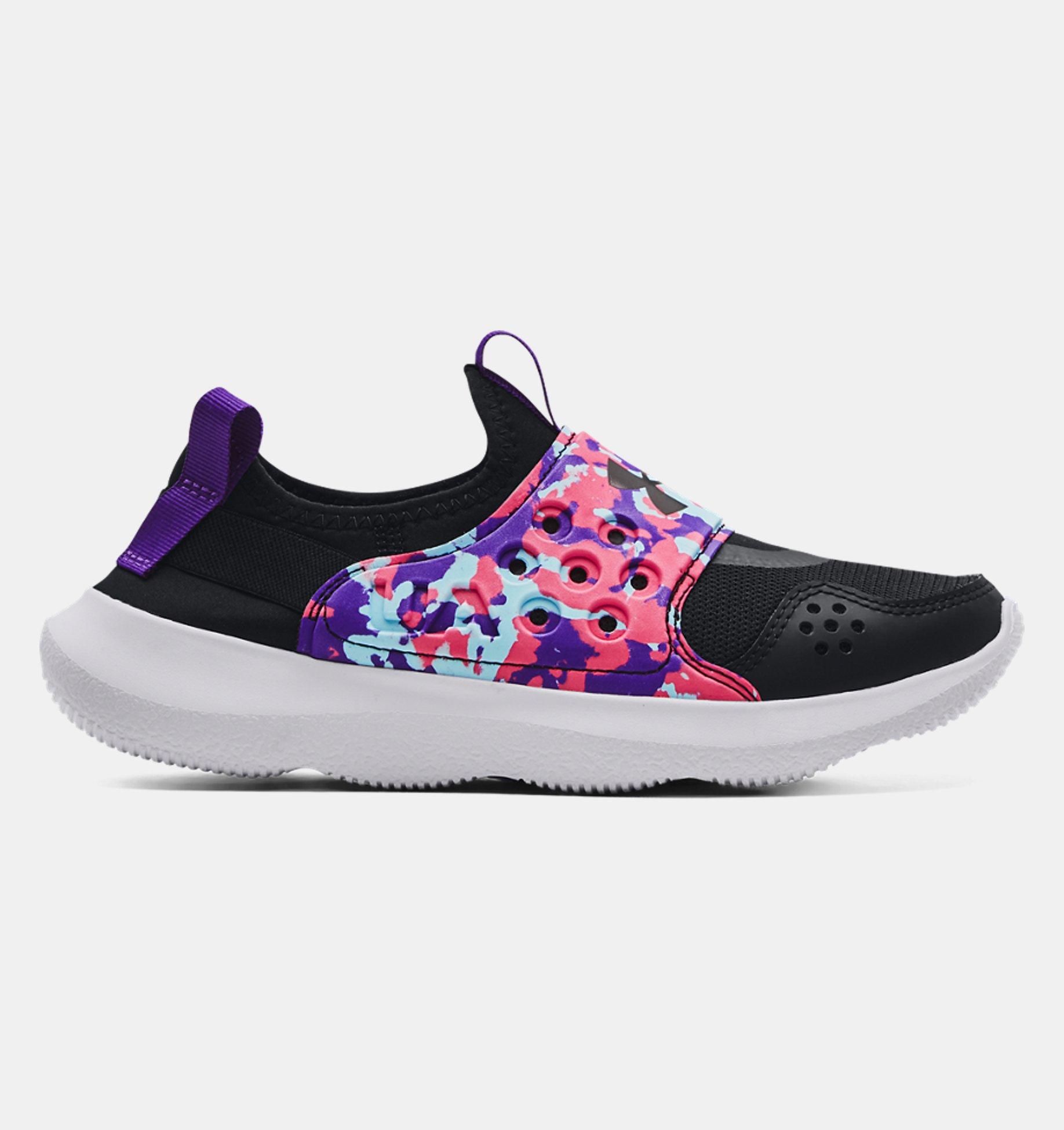Underarmour Girls Grade School UA Runplay Camo Running Shoes