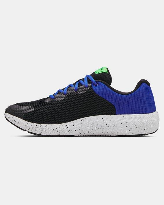 Men's UA Charged Pursuit 2 Big Logo Speckle Running Shoes, Black, pdpMainDesktop image number 1