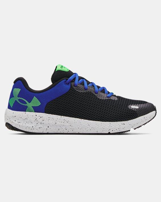 Men's UA Charged Pursuit 2 Big Logo Speckle Running Shoes, Black, pdpMainDesktop image number 0