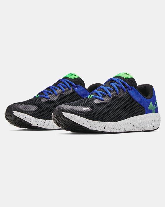 Men's UA Charged Pursuit 2 Big Logo Speckle Running Shoes, Black, pdpMainDesktop image number 3