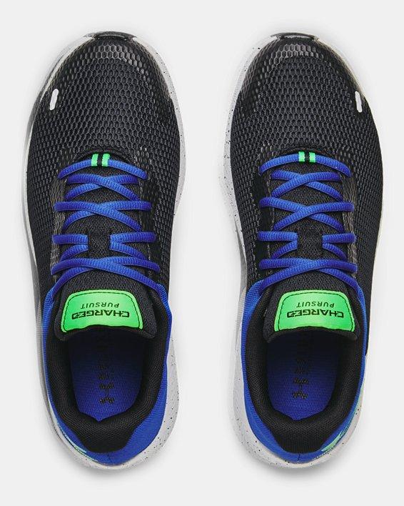 Men's UA Charged Pursuit 2 Big Logo Speckle Running Shoes, Black, pdpMainDesktop image number 2
