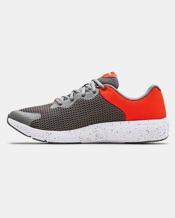 Men's UA Charged Pursuit 2 Big Logo Speckle Running Shoes, Gray, pdpMainDesktop image number 1
