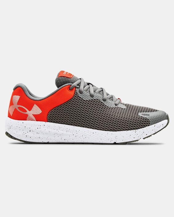 Men's UA Charged Pursuit 2 Big Logo Speckle Running Shoes, Gray, pdpMainDesktop image number 0