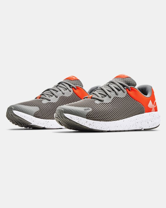 Men's UA Charged Pursuit 2 Big Logo Speckle Running Shoes, Gray, pdpMainDesktop image number 3