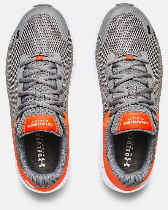 Men's UA Charged Pursuit 2 Big Logo Speckle Running Shoes, Gray, pdpMainDesktop image number 2