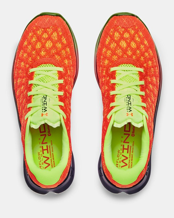 Men's UA Flow Velociti Wind NRG Running Shoes, Orange, pdpMainDesktop image number 2