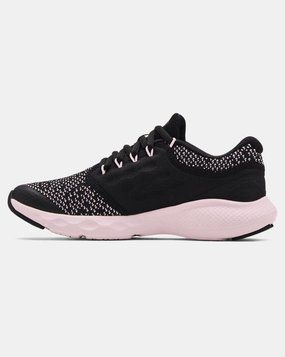 Girls' Grade School UA Charged Vantage Knit Running Shoes, Black, pdpMainDesktop image number 1