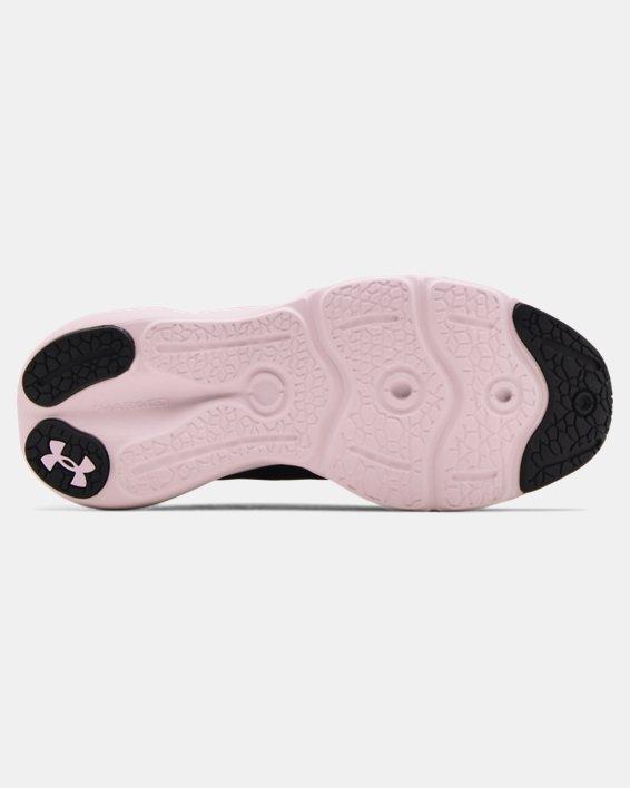 Girls' Grade School UA Charged Vantage Knit Running Shoes, Black, pdpMainDesktop image number 4