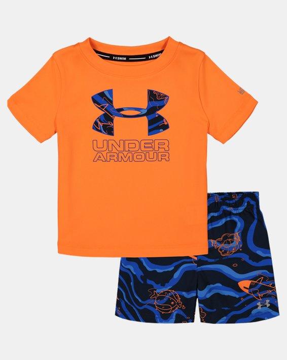 Boys' Infant UA Sport Fish Volley Set, Orange, pdpMainDesktop image number 0