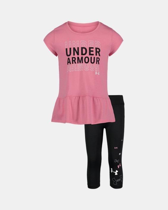 Girls' Pre-School UA Wordmark Set, Pink, pdpMainDesktop image number 0