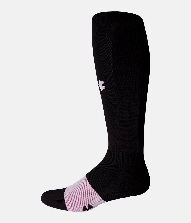 Boys' Football Socks, Black , zoomed image - Boys' Football Socks Under Armour US