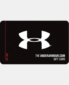 UA Gift Card  5 Colors $25 to $500
